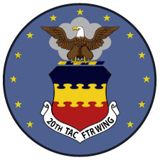20th Tactical Fighter Wing Patch